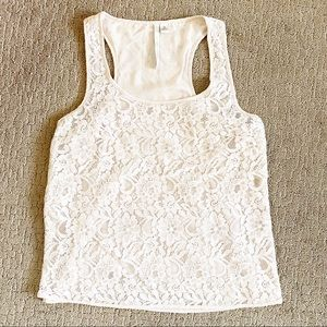 Lauren Conrad Laced inner lined tank top